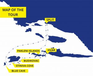 Blue cave and five islands tour