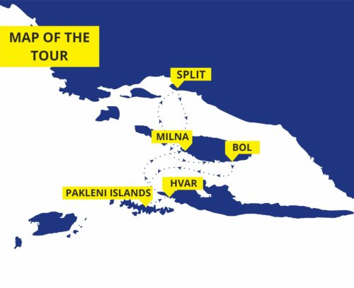 Three islands tour: Bol, Hvar, Pakleni islands and Milna