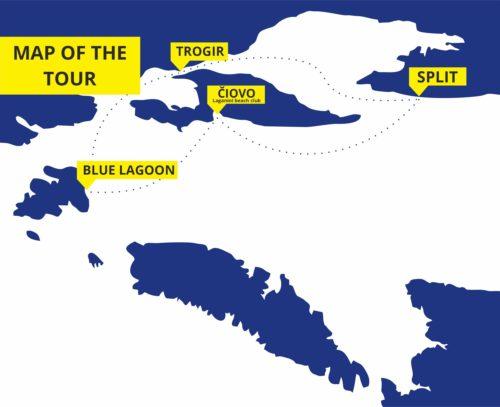 Blue Lagoon tour with Trogir and Čiovo